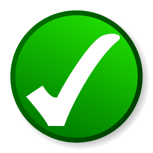 Safety Check Mark